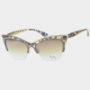 CAT SHAPE SUNGLASSES IN ASSORTED COLORS WITH METAL EMBEDDED TOP