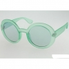 5 COLORS LARGE ROUND SUNGLASSES WITH MATCHING COLOR LENS