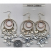 3 HOOPS AND COINS SHINY EARRINGS