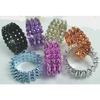 3 ROWS SPIKE HINGE BRACELETS IN 7 METALLIC COLORS