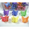 MINI BUTTERFLY NEON COLOR HAIR CLIPS 4 DZ PER CONT-PRICE /DZ