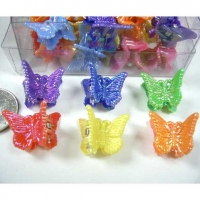 MINI BUTTERFLY NEON COLOR HAIR CLIPS 4 DZ PER CONT-PRICE $2/DZ