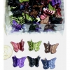 MINI BUTTERFLY HAIR CLIPS IN DARK FALL METALLIC COLORS