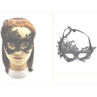 BLACK LACE MASKS ASYMETRICAL