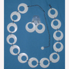 BELT & EARRING SET WHITE GO GO STYLE