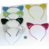 CAT STYLE HEADBAND IN 6 COLORS WITH ALIGNED SEQUINS