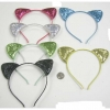 GLITTER CAT STYLE HEADBANDS IN 6 COLORS