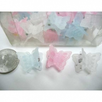 3 LITE COLOR MINI BUTTERFLY HAIR CLIP, 4 DZ/PRICE $2/DZ