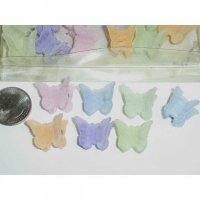 MINI BUTTERFLY FUZZY PASTEL COLORS HAIR CLIPS, 4 DZ IS $2/DZ