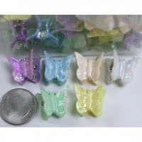 SHINY PASTEL COLOR MINI BUTTERFLY HAIR CLIPS, $2/DZ FOR 4DZ moRE