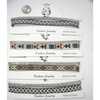 FABRIC IN NICE DESIGNS & SILVER GEMSTONE CHOKER NECKLACE