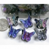 BLACK REVO IRIDESCENT MINI BUTTERFLY HAIR CLIPS, 4 DZ/UNIT-/DZ