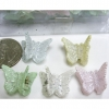 SOFT COLOR W/ SLIGHT GLITTER MINI BUTTERFLY HAIR CLIPS 4 DZ-/D