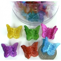 MINI BUTTERFLY HAIR CLIPS IN RICH BRIGHT COLORS, 4 DZ-$2/DZ