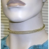WIRE METAL CHOKER  GOLD AND SILVER