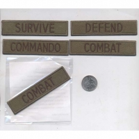 ARMY STYLE PATCH WITH WORDS