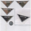 CAMO TRIANGLE SHAPE PATCH WITH GIRLY WORDS
