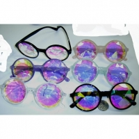 KALIEDESCOPE LENS ROUND GLASSES WITH ASSORTED COLOR FRAMES