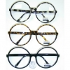 CLEAR LENS VERY LARGE ROUND FRAMES IN BLACK, TORTOISE FRAMES