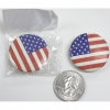 SMALL  FLAG BUTTON 1.25 INCH DIAMETER