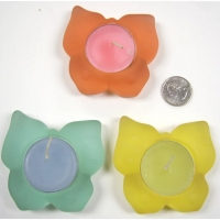 CANDLE IN A BUTTERFLY FIGURE ASSORTED COLORS
