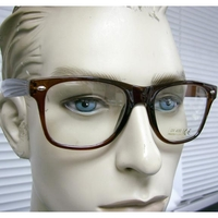 CLEAR LENS, BLUES BROTHERS FRAMES, BROWN TRANSLUCENT COLOR