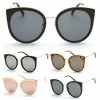 CAT SHAPE SUNGLASSES, LARGE FRAMES METAL ARMS, VERY NICE..