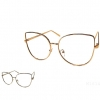 CLEAR LENS LARGE METAL FRAMES COOL SHAPE GLASSES