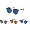 FLAT STRAIGHT TOP REVO LENS INDUSTRIAL LOOK SUNGLASSES
