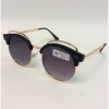 FLAT ROUND LARGER SOHO VERSION GOLD FRAMES, DARK LENSES SUNGLASS