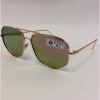 AVIATOR LOOK WITH ANGLE CUTSMETAL FRAMES, REVO LENS GLASSES