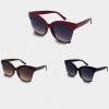 LARGE FRAMES SUNGLASES WITH LENS EDGE SIDE, 3 COLORS