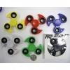 NINJA STAR LOOKING SPINNERS, 6 COLORS, COMES IN BOX