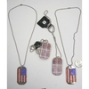 FLAG DOGTAG NECKLACE AND REVERSE SIDE HAS HOLOGRAM UK AND USA