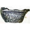 CAMO PRINTS FANNY PACK WITH 2 SIDE MESH POCKETS