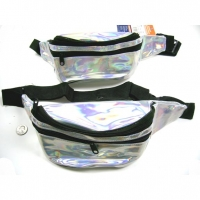 IRIDESCENT FANNY PACK 3 ZIPPERS