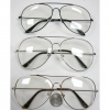 CLEAR LENS EXTRA LARGE AVIATORS SUNGLASSES