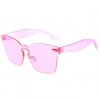 1 PIECE FRONT SUNGLASSES IN COOL FUNKY COLORS AND STYLE