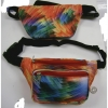 TYE DYE LOOK FANNY PACK, 2 ZIPPER