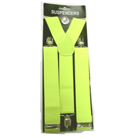 WIDE NEON YELLOW SUSPENDERS
