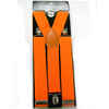 NEON ORANGE WIDE SUSPENDERS