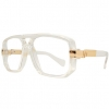 CLEAR LENS, CLEAR FRAME CAZELS, GOLD  METAL HINGES GLASSES