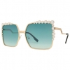 MOD LOOKING SUNGLASSES METAL FRAMES ASSORTED COLORS-WOW