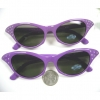 CAT EYE RETRO SUNGLASSES IN PURPLE WITH RHINESTONES