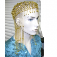 GOLD HEAD BEADED HEAD PIECE, VERY LIMITED STOCK