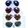 NEON AVIATORS WITH SPRING TEMPLE AND REVO LENS