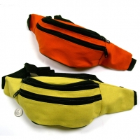 YELLOW AND ORANGE BRIGHT COLOR 100% COTTON FANNY PACKS