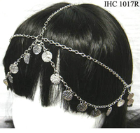 COINS & CHAINS HEAD CHAIN IN SILVER COLOR
