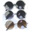 ROUND METAL FLAT FRAMES GOLD, SILVER BLACK, DARK LENS SUNGLASSES