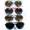 AVIATOR SUNGLASSES, 4 COLORS METAL FRAMES, MORE CURVED